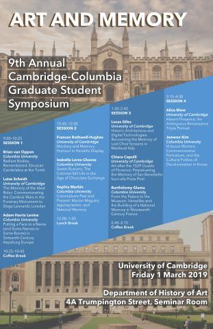 Cambridge Columbia Poster 2019
