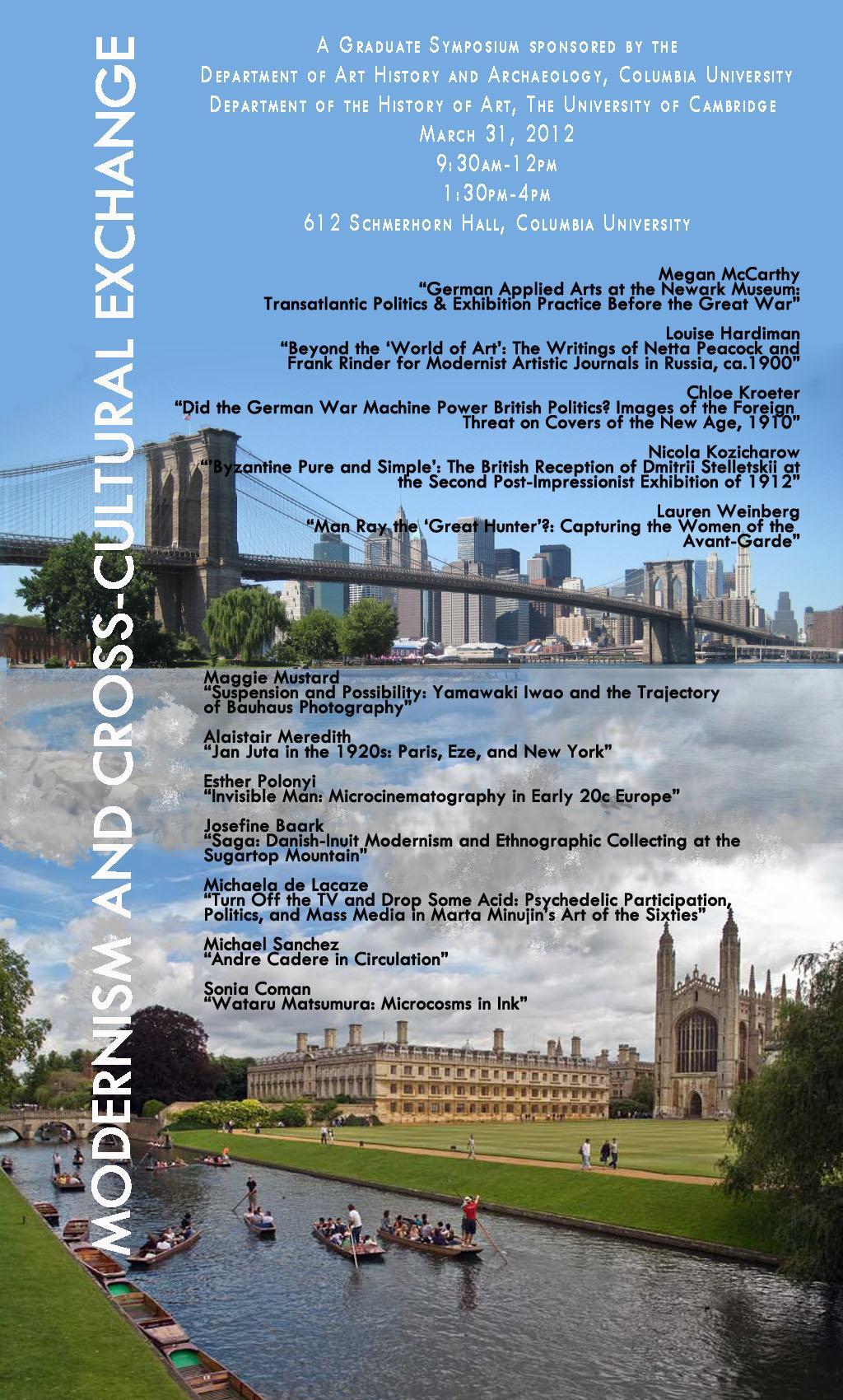 Cambridge-Columbia poster