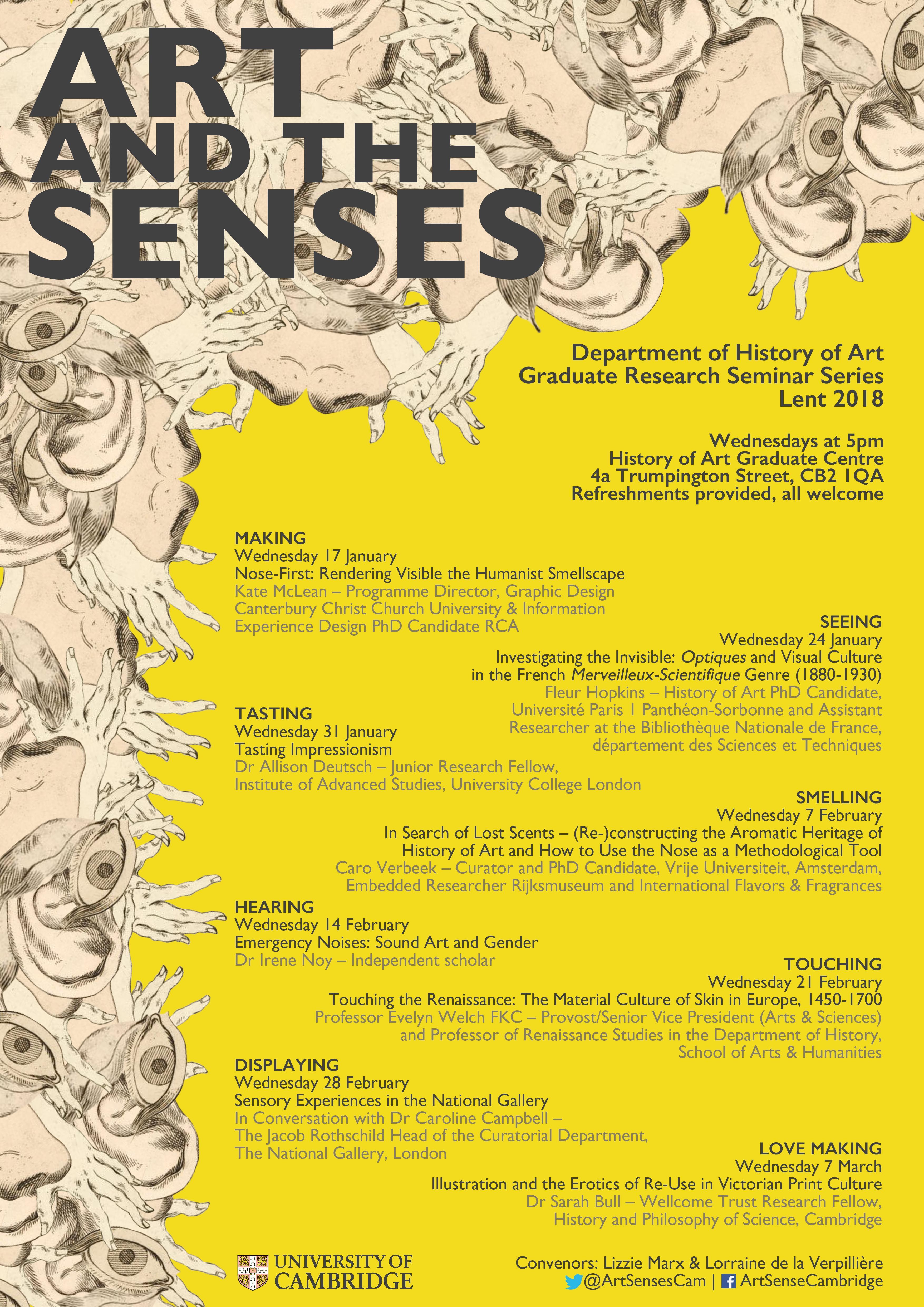 Grasuate Research Seminars poster Lent 2018
